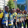 Team Barbados during the Flag Raising Ceremony at WorldSkills Kazan 2019