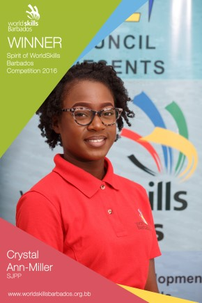 Spirit of the WorldSkills Barbados Competition 2016 Award